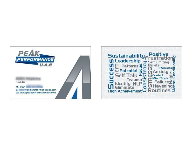 Peak Performance Biz Card - Peak Performance UAE