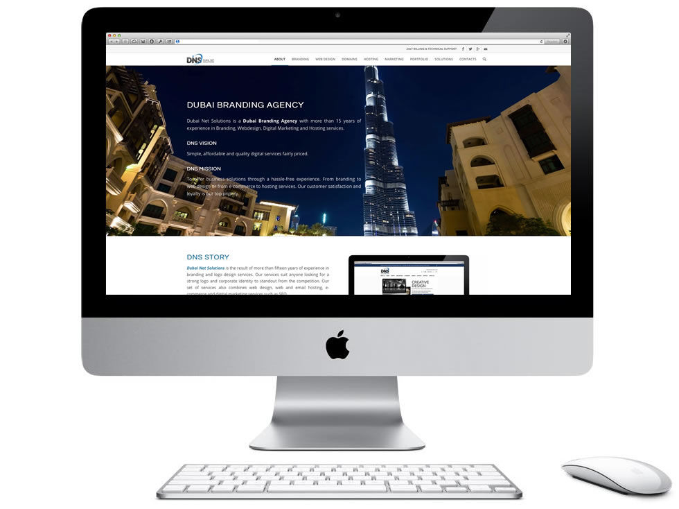 iMac website dns - About Dubai Net Solutions